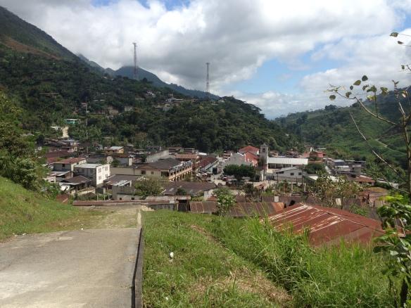 The town of Tamahu, Guatemala