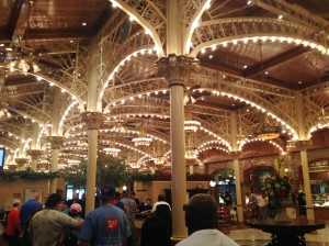 Our awesome brunch spot in Vegas had a cool ceiling