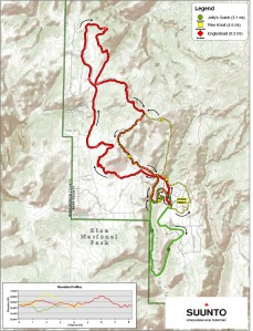 Trail map from the Ragnar Relay page